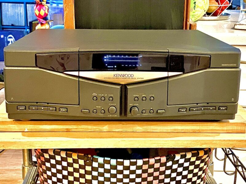 Kenwood - X-W320 Cassette Deck Works Great Sounds Amazing Audiophile