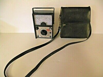 Old Rca Wv-531a Ohmstemp Meter Appliance Tester Two Leads Leather Carry Case
