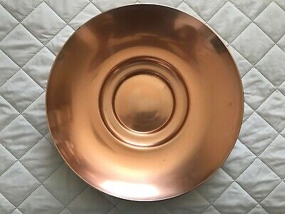"""Kaymet Serving Bowl 14"""" Candy Dish Copper Plated Aluminum Large England"""