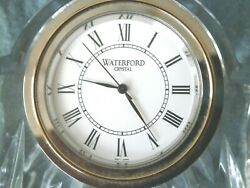 WATERFORD HAND CUT CRYSTAL SMALL QUARTZ MANTEL CLOCK SEIKO From IRELAND NIB