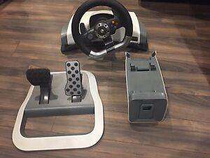 Selling my Xbox 360 wireless racing wheel for $140 obo.