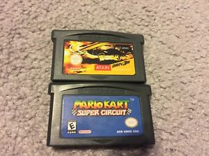 Mario Kart and Drive Gameboy Advance games