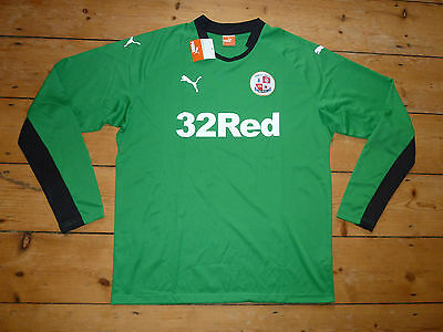 CRAWLEY TOWN FC Football Shirt  2014/15 Size:XL Soccer Jersey Green GK Jersey image