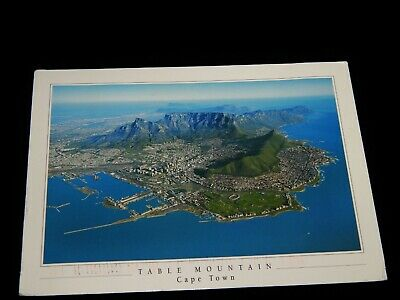 Vintage Postcard,CAPE TOWN,SOUTH AFRICA,Aerial View Of Table Mtn,To (Aerial View Of Cape Town South Africa)