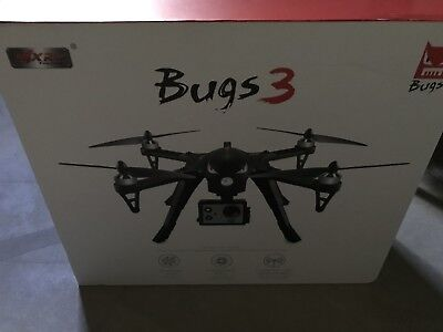 MJX Bugs 3 2.4G 6-Axis Brushless Motor Drone New In Box-Black!