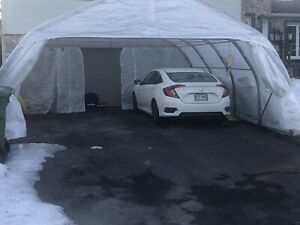 Tempo Car Shelter :   Double , 2 cars. 20 x 20
