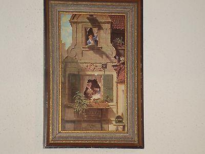 Carl Spitzweg Der abgefangene Liebesbrief um 1858 (A 3/9116) im Holzrahmen