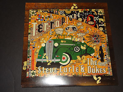 STEVE EARLE & the DUKES AUTOGRAPHED SIGNED Terraplane LP IN HAND EXACT PROOF