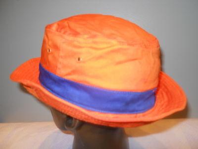 East Side Boys Dead End Kids Bowery Hat Fishing Orange Hershey Park Pork Pie Cap - Dead Fish Hat