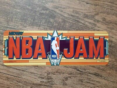 NBA Jam Basketball Classic Arcade Video Game Marquee Banner 4x12 Metal Wall Sign