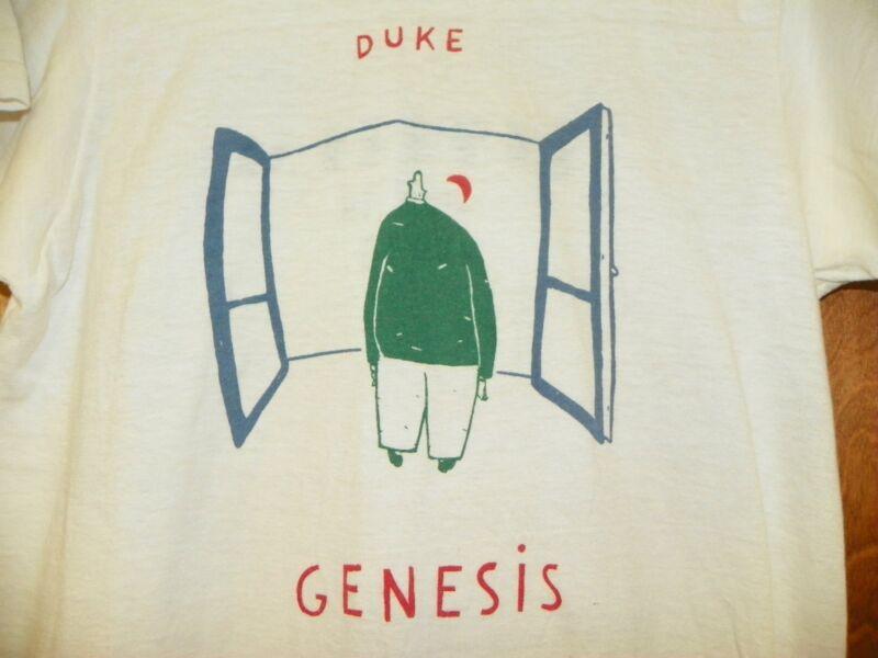 VTG 1980 GENESIS DUKE WHITE LARGE CONCERT TEE  AT THE ORPHEUM IN BOSTON