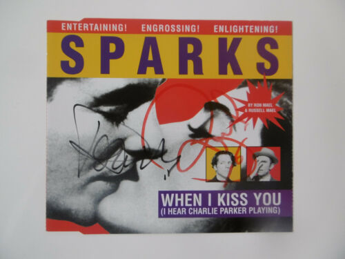 """Sparks Autogramme signed CD-Cover """"When I Kiss You"""""""
