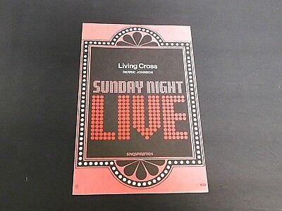 """1979 Sheet Music Booklet """"Living Cross"""" by Derric Johnson 16 Pages VG Condition"""