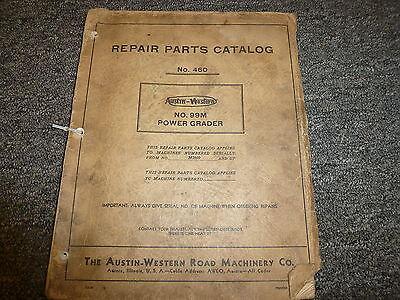 Austin Western Model 99m Power Grader Parts Catalog Manual Book Sn M2800-up