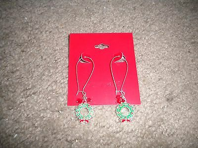 Kohl's Christmas wreaths dangly pierced earrings for the Christmas holiday NEW ()