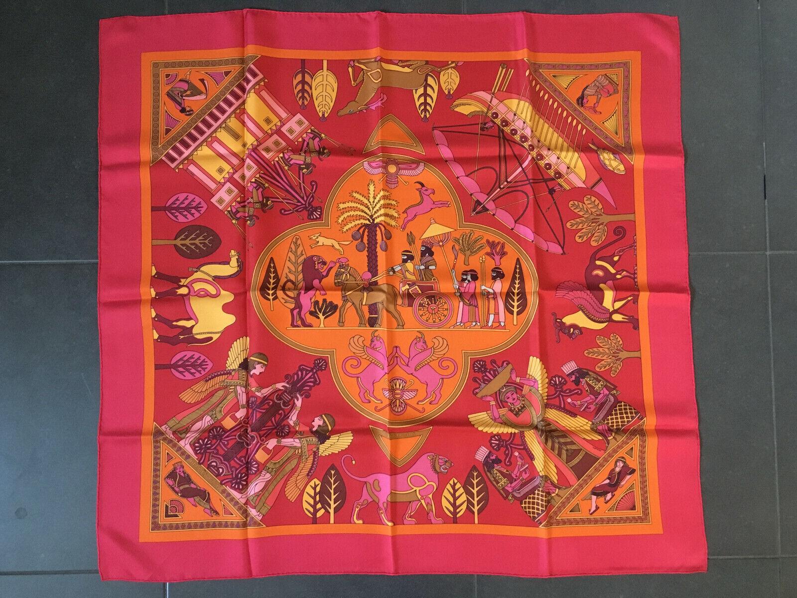 Foulard carré hermès en soie - persepolis - 90 cm