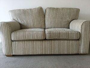Two seat beige sofa with removable covers Preston Darebin Area Preview