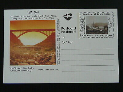 bridge 100 years of cement production stationery card South Africa 86181