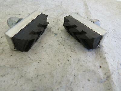 SET OF4 BLACK NOS Vintage bicycle brake blocks pads refill inserts RALEIGH rod