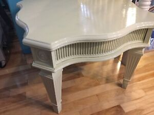 Lime yellow single side coffee table - available