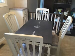 Diningroom set w/ 4 chairs refurbished.  Now only $175. Wow!