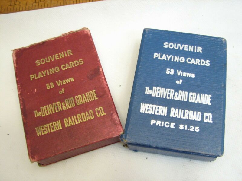 2 Decks Western Railroad Co Denver & Rio Grande Railways Souvenir Playing Cards