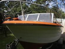 BOAT , FIBREGLASS, 5.3 METRE, 130 hp EVINRUDE, TRAILER Merrimac Gold Coast City Preview
