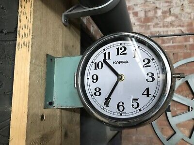 Vintage Industrial Reclaimed Salvaged Kappa Ship Double Sided Wall Clock-Marine