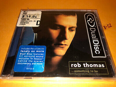 ROB THOMAS (Matchbox 20) solo DUALDISC cd dvd SOMETHING TO BE hits LONELY NO MOR