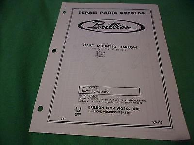 Drawer 16 Brillion Cart Mounted Harrow Stc-8 Stc-81 Stc-81-1 Parts Catalog