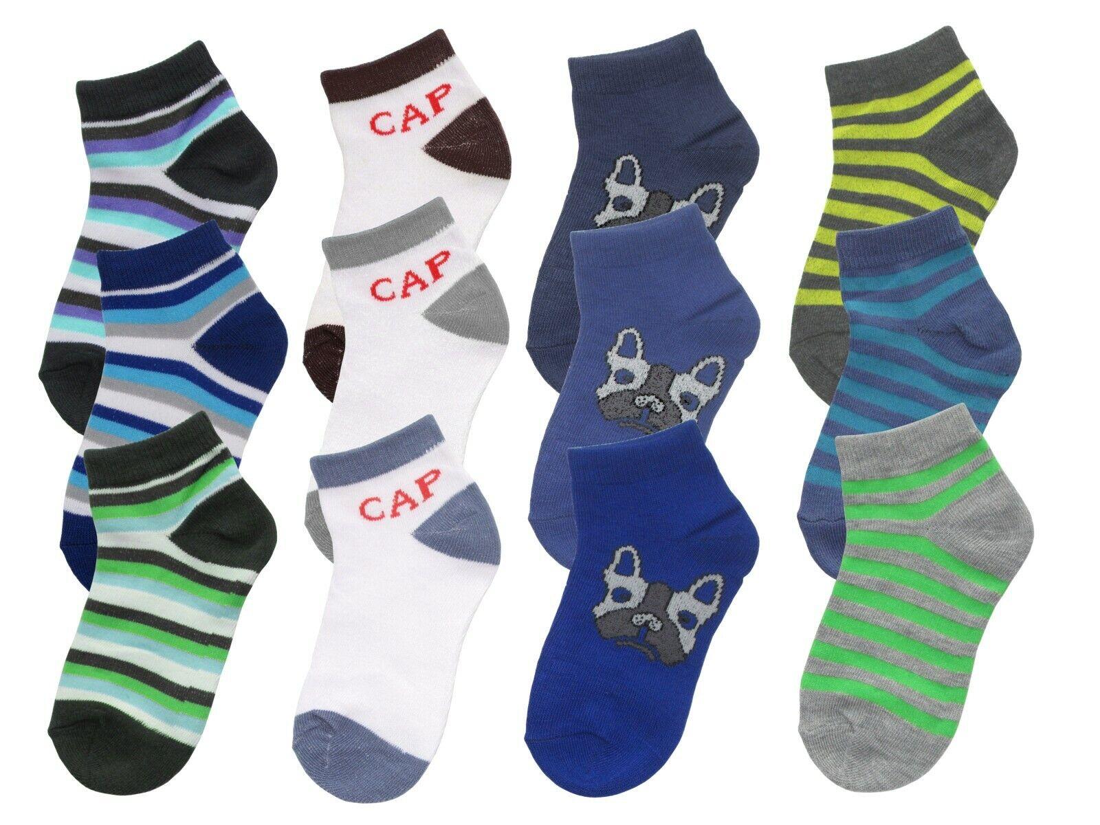 12 24 36 Paar Gr. 23-38 Jungen Sneakersocken Socken Sommer Kindersocken D5