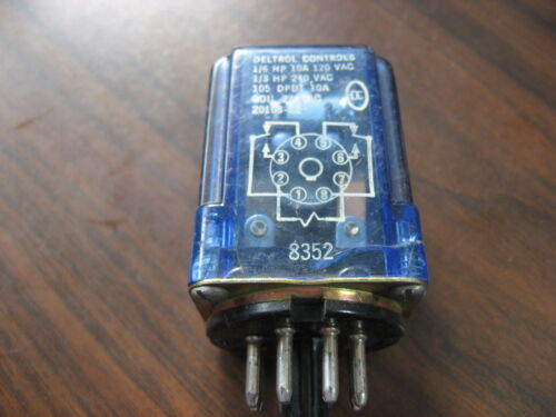 Deltrol Controls 20108-82 Cube Relay (8 Pin Round,  24 VAC Coil)