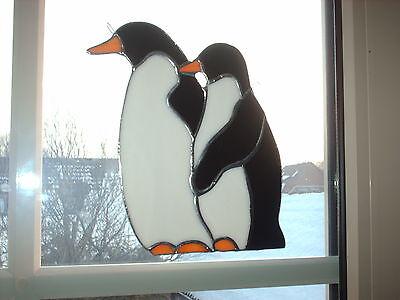 "TIFF. -  Fensterbild, Pinguin,  ""Handarbeit"" edel"