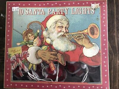 10 Vintage Santa Christmas Party Lights Working