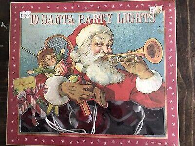 10 Vintage Santa Christmas Party Lights Working