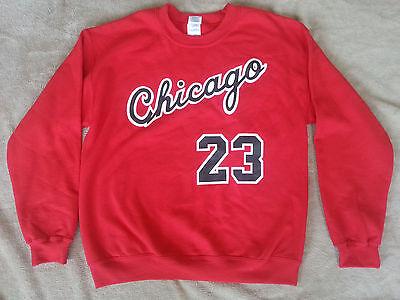 Jordan Jersey Shirt (Chicago Bulls Michael Jordan Rookie year vtg style Jersey Sweatshirt /)