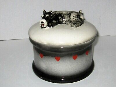 Ceramic Schnauzer Cookie Jar