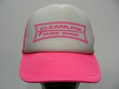 dcfd095502e CLEANLINE SURF SHOP - TRUCKER STYLE ADJUSTABLE SNAPBACK BALL CAP HAT!