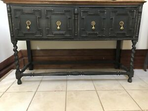 Antique vintage sideboard, credenza, hutch, server, tv stand