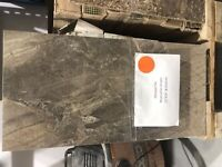 *CLEARING TILE STOCK* 134 sf/12 by 24 must series brown- $300