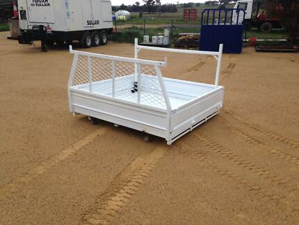 Steel duel cab Ute tray with sides and builders racks. Mudgee Area Preview