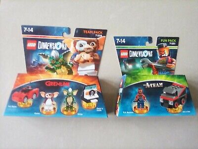 Lego dimensions sets mint condition Gremlins and A Team