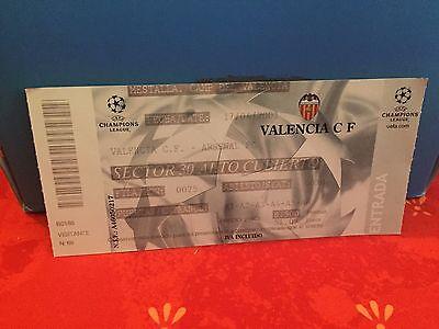 Football Ticket -  Champion's League - Valencia CF VS Arsenal FC - 2001