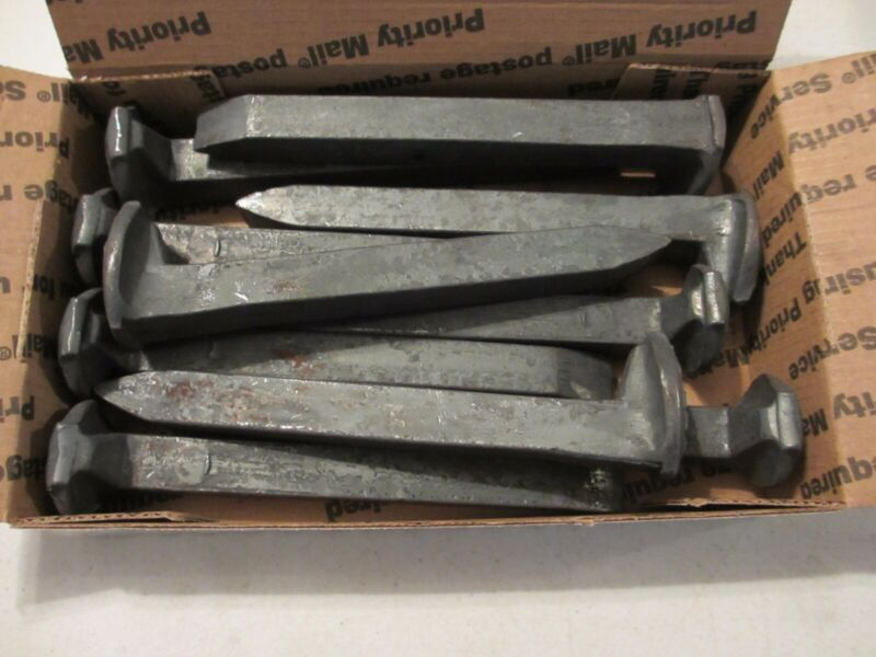 10 Railroad Spikes - Little Surface Rust - New - Never Used **Fast Ship ** b1