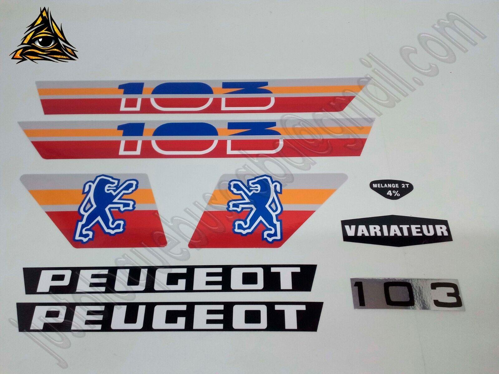 Autocollant mobylette Peugeot 103 MVL 01