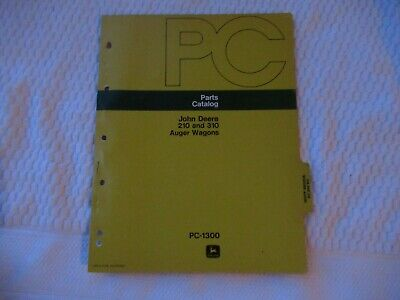 John Deere 210 310 Auger Wagons Parts Catalog Manual Book