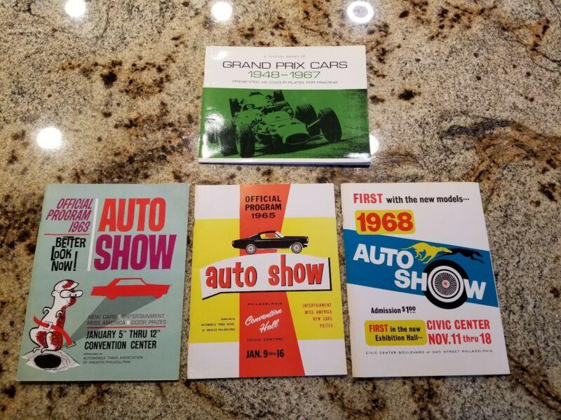 1963 1965 1968 PHILADELPHIA AUTO SHOW PROGRAMS Vintage