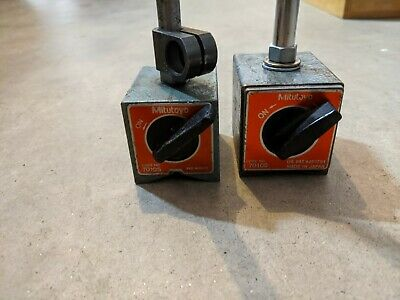 Lot Of 2 Mitutoyo 7010s Magnetic Base Stands