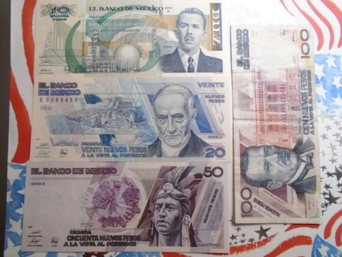 Set   banknotes new pesos