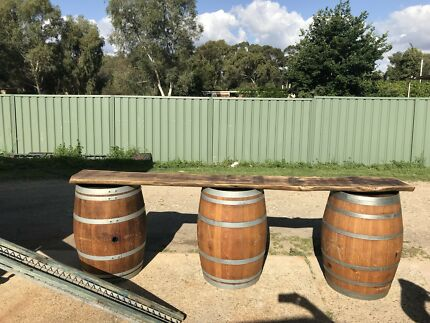 Wine barrel hire $25.00 each 4 for $80.00 special
